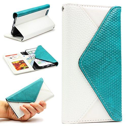 URCOVER® Custodia Portafoglio Apple iPhone 6 Plus / 6s Plus | Elegante Flip Cover Femminile di Ecopelle in Bianco | Case Fashion Chic Glamour Clip Magnetica Slot Card