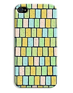 Earthy Pastel Blocks Case for your iPhone 4/4s