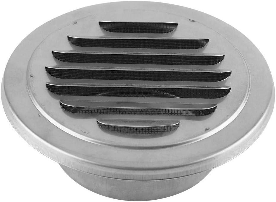 GLOGLOW Ventilación de Aire Rejilla de Acero Inoxidable Extractor Externo Cubierta ventilación de Pared Redonda para baño Oficina Cocina Ventilación