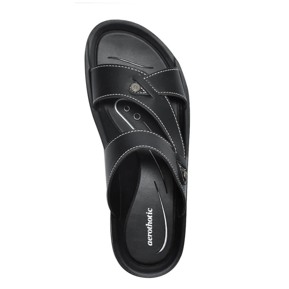 AEROTHOTIC Original Orthotic Comfort Slip On Sandals and Flip Flops with Arch Support for Comfortable Walk (US Women 11, Thistle Black) by AEROTHOTIC (Image #7)