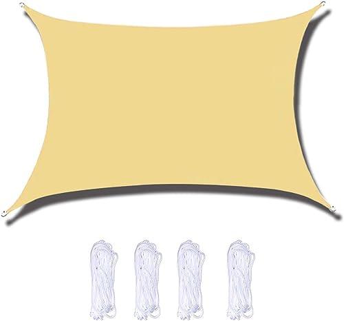 anroog Waterproof 10' x 13' Sun Shade Sail Canopy Rectangle UV Block