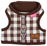 Pinkaholic New York Motley Pinka Harness for Dogs, Brown, Large, My Pet Supplies