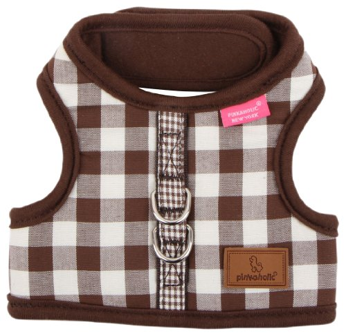 Pinkaholic New York Motley Pinka Harness for Dogs, Brown, Small, My Pet Supplies