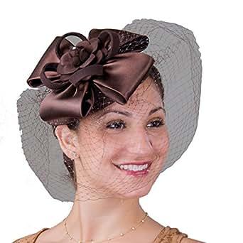 Fascinators Cocktail Hat - 5687P (Brown/Brown)
