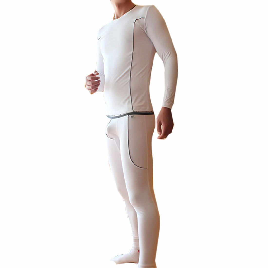Winter Men Warm Tops Pant Underwear Thermal Long Johns Sets Ensembles Thermiques QIYUN.Z 3024S0322/CA1