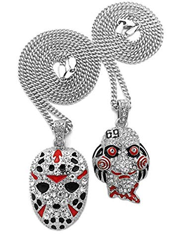 Shiny Jewelers USA Mens ICED Out Rapper MASK Hip HOP Pendant 24