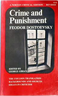 crime and punishment the coulson translation backgrounds and crime and punishment the coulson translation backgrounds and sources essays in critisisms