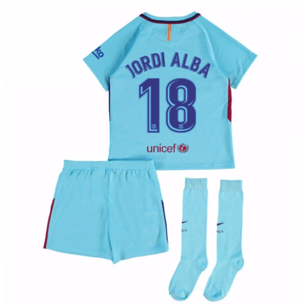 2017-2018 Barcelona Away Mini Kit (Jordi Alba 18) B077PS14JJBlue MB 5-6yrs (110-116cm)