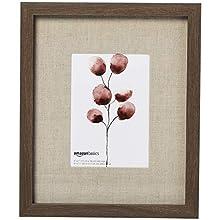 AmazonBasics - Marco de fotos de pared estilo galería, 23 x 28 cm, con hueco de 13 x 18 cm, efecto nogal envejecido, 3 unidades