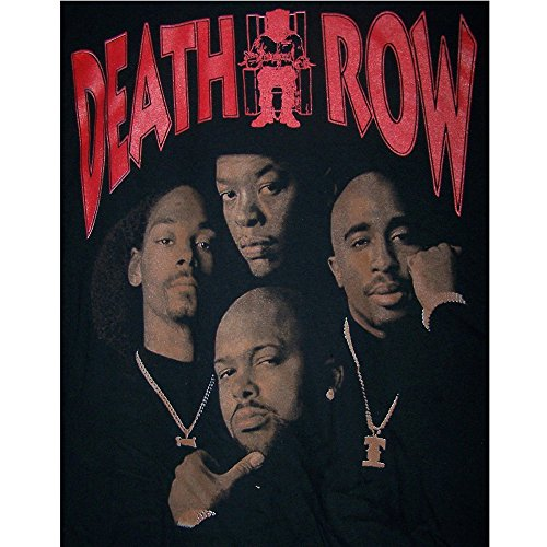 Death Row Snoop Dog 2Pac Dr DRE Suge Knight Cotton T-Shirts (HhTs7 Z) (M) ()