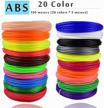 W-Shufang,3D 3D 10 o 200 Metros/Color 1.75 mm ABS/PLA Material ...