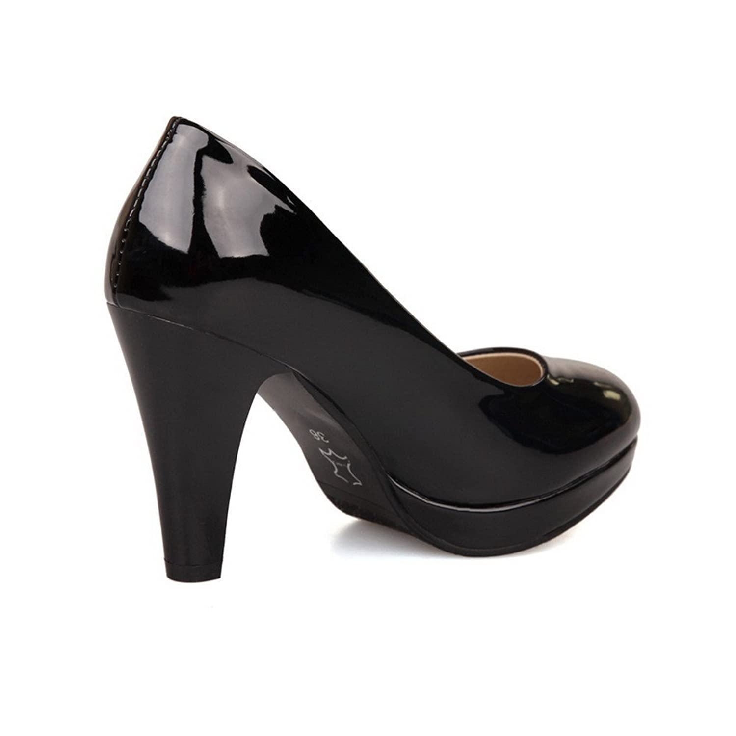 Balamasa Womens Pull On High Heels Solid Pumps Shoes: Amazon.co.uk: Shoes &  Bags