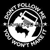 Jeep Wrangler Dont Follow Die cut vinyl car decal sticker