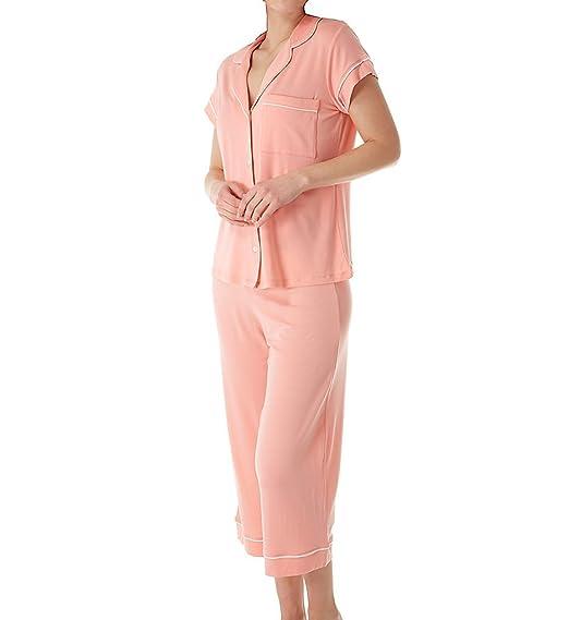 456742b8abc Eberjey Women s Gisele Two-Piece Short Sleeve   Cropped PJ Set at ...