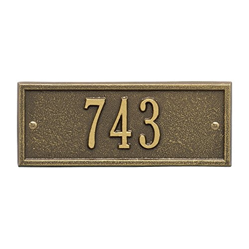 Personalized Hartford 1-Line Petite Wall Plaque in Brass (Hartford Wall Plaque)