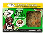 Rudy Greens Doggy Cuisine Home Cooking For Dogs Chicken And Veggies Frozen Human Grade Dog Food 5 Boxes (7.5 lbs Total, 20 Pouches each 6 oz)