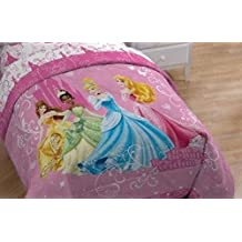Disney Princess Quilt Comforter Cinderella Tiana Queen Size