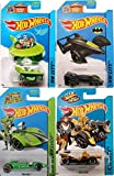 Character Hot Wheels Cars Batman Green Driver, Jetsons & Grease Rod Cars Epic Race Team Hot Wheels Batmobile Capsule Car & Twin Mill Bundle