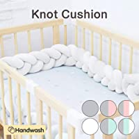 Wonder Space Soft Knot Plush Pillow - Baby Crib Bumper, Fashion Nursery Cradle Decor For Baby Toddler and Childern (Pure White, 3 Meters)