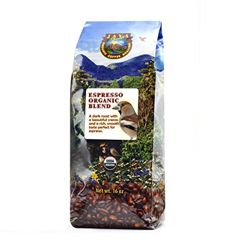 Java Planet - Espresso USDA Organic Coffee Beans, Dark Roast Arabica Gourmet Specialty Grade A, packaged in 1 LB bag