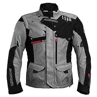 Acerbis Adventure Motorcycle Jacket XX-Large (Size 48) Black/Grey