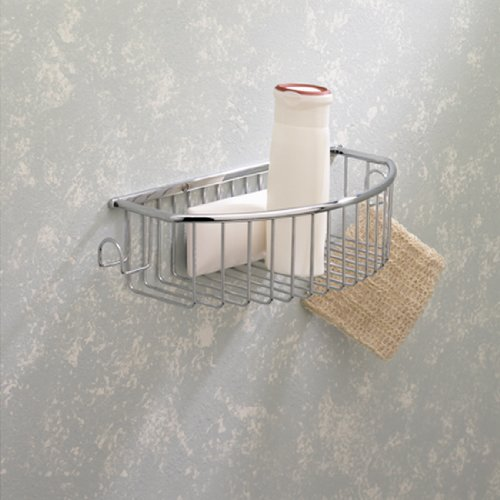 - Valsan 53435 CR Essentials Curved Deep Basket With Hooks in Chrome
