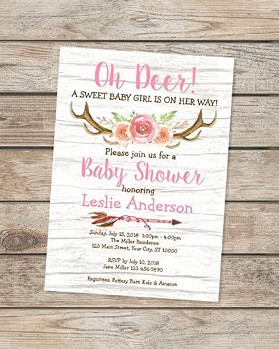 rustic baby shower invitations oh deer baby shower invitations country western baby shower invitations