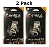 Zagg Invisibleshield Screen Protector for iPhone 4 & 4s, Full Body Dry (2 Pack)