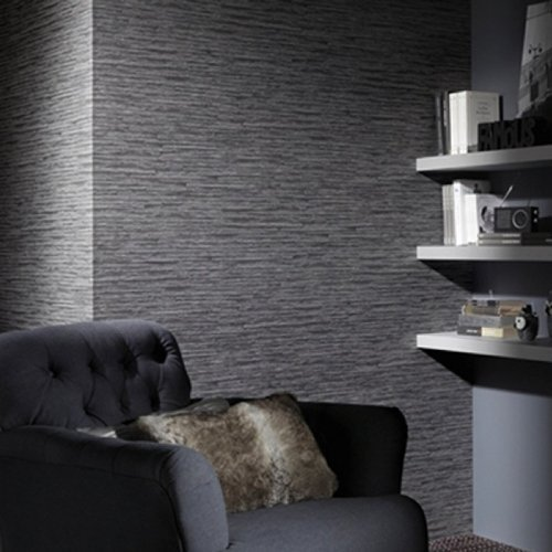 Charcoal Tile In Grey Brick Effect Wallpaper Sample Only Amazoncouk Kitchen Home