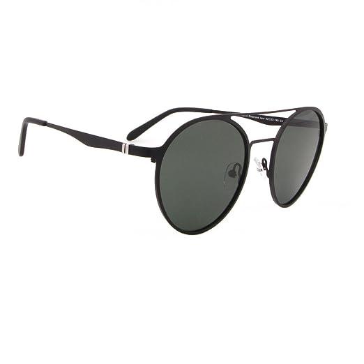 Tacloft Women s Round Aviator 52mm Stainless Steel Polarized Sunglasses  YX010 (Black Frame Grey Lens d193acf14c
