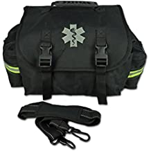 Lightning X Small EMT Medic First Responder Trauma EMS Jump Bag w/ Dividers (Stealth Black)