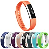 Vancle Fitbit Alta Bands, Newest Adjustable Replacement Bands For Fitbit Alta Bands, Large, Orange(With Metal Clasp, No Tracker)