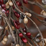 Factory Direct Craft Red, Toasted Brown and Carmel Pip Berry Garland for Indoor Decor - 54'' Long
