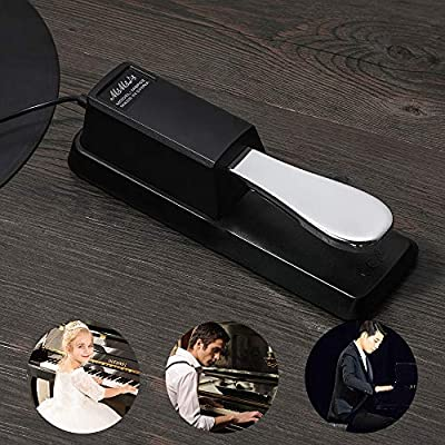 MIMIDI MSP02 Sustain Pedal for Keyboard Digital Piano Foot Damper Pedal with Reverse Switch MSP02