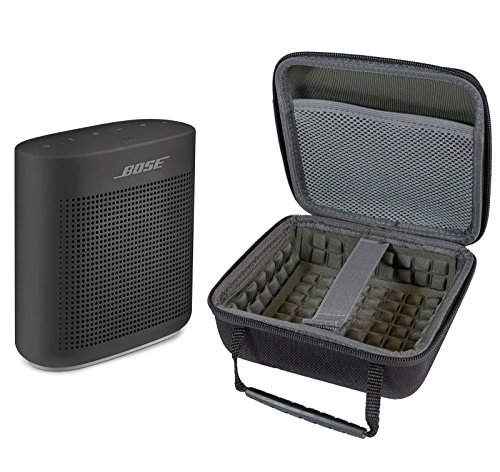 Bose SoundLink Color II Bluetooth Speaker, Soft Black, with Portable Hardshell Travel Case