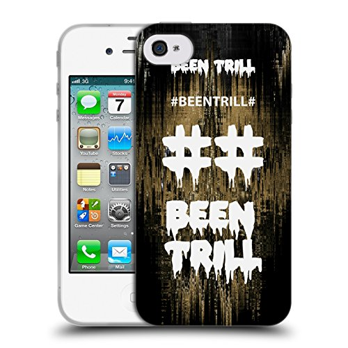 Official Been Trill Fast Lane Glitch Soft Gel Case for Apple iPhone 4 / 4S