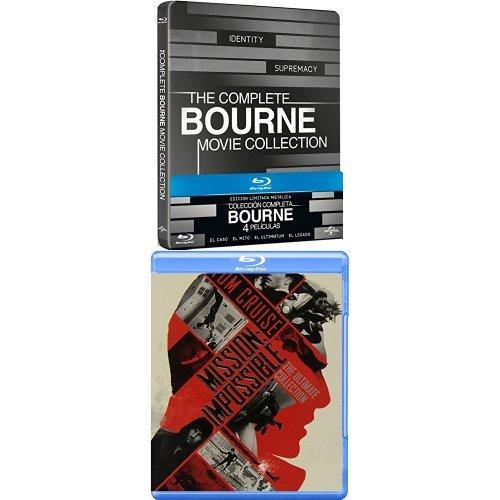 Pack: Misión Imposible 1 a 5 + Bourne 1 a 4 Edición Metálica ...