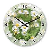 Goose Flower Wooden Wall Clock Silent Non-ticking Wall Clocks Decorative for Living Room Bedrooms Nursery Clock Children Watch