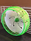 Mcage Lot of 2 Accessory Kit Exercise Running Wheel For Hamsters, Gerbils, or Mice (Green)