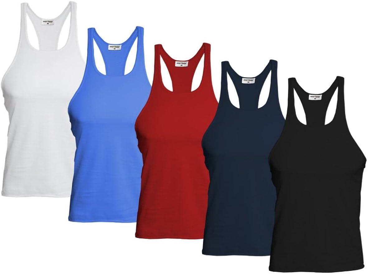 canottiera sportiva per bodybuilding Raftaar/® confezione da 5 pezzi,/canottiera da uomo per la palestra
