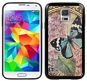 Vintage Butterfly Handmade Samsung Galaxy S5 Black Case