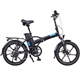 Magnum Bikes Premium 48V Full Power Folding Electric Bike, 500W 8FUN Motor 48V-13Ah Battery MATTE BLACK + GIFT 16000 mAH Solar Power Bank for your cell phone