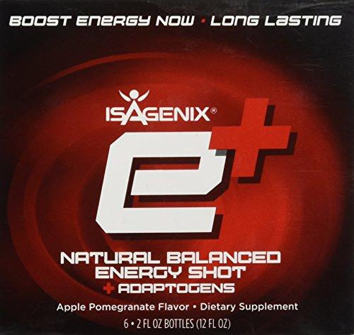 Isagenix e+ Healthy Energy Shot Apple Pomegranate 2oz - 6 pa