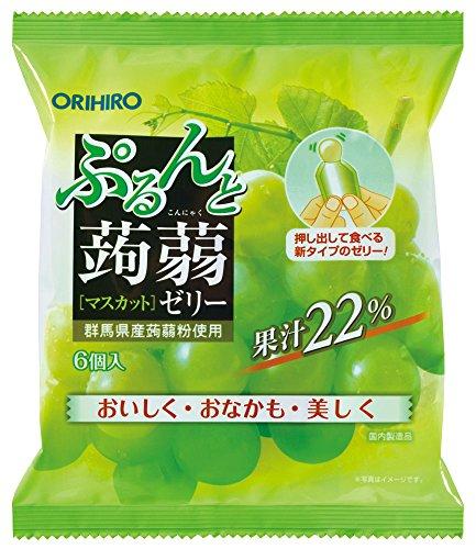 Orihiro Puru do and konnyaku jelly Muscat (20gX6 pieces) X6 bags