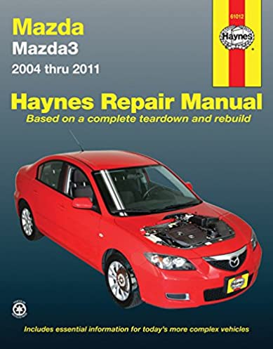mazda 3 2004 2011 repair manual haynes repair manual haynes rh amazon com repair manual mazda 3 repair manual mazda 3