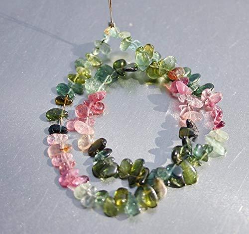 JP_BEADS Pink Green Blue Gem Watermelon Bio Tourmaline Smooth Small Free Form Briolette Drop Beads Full 9