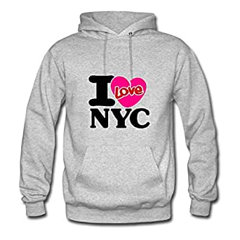 I Love Nyc__v003 Print Women Creative Sweatshirts - X-large - Electric Grey