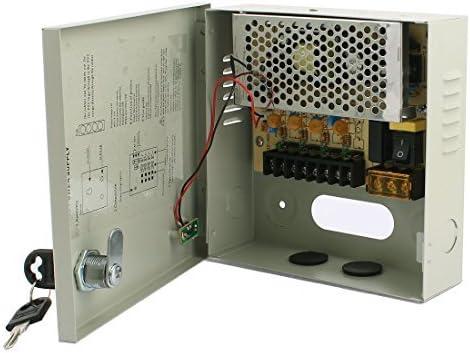 DealMux 100-240V AC a DC 12V 5A 4 CH Fuente de alimentación conmutada Caja de Interruptor para cámaras de CCTV: Amazon.es: Electrónica