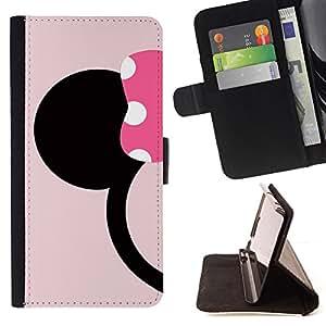 """For Samsung Galaxy Note 5 5th N9200,S-type Minimalista personaje de dibujos animados"""" - Dibujo PU billetera de cuero Funda Case Caso de la piel de la bolsa protectora"""