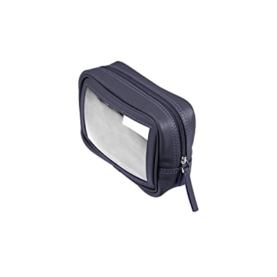 Lucrin - See-through washbag - Purple - Smooth Leather: Beauty
